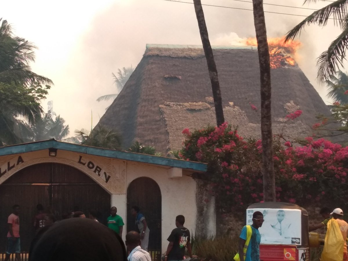 Image result for Fire Guts Down Luxury Villa in Malindi